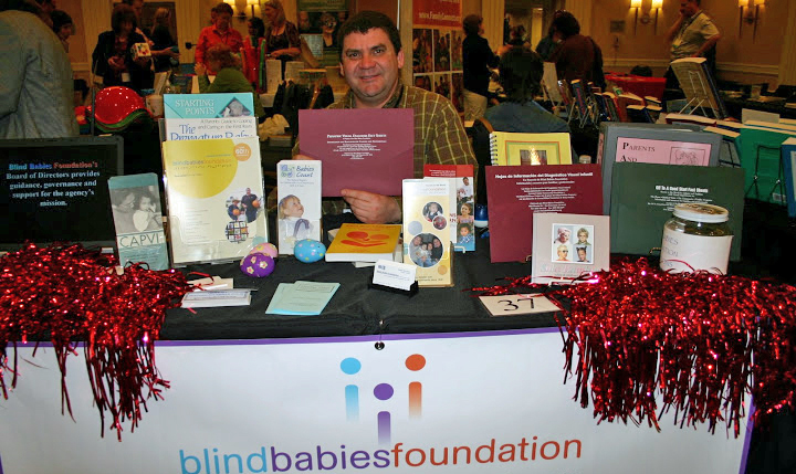 Photo of Exhibit Table for Blind Babies Foundation