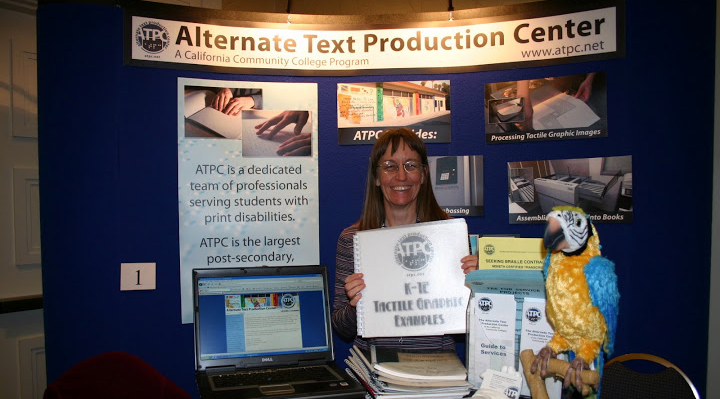 Photo of Exhibit Table for Alternative Text Production